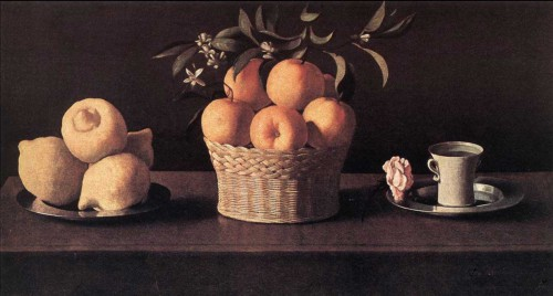Still-life with Lemons, Oranges and Rose